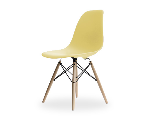 Eames Side Shell Chair / イームズ・プラスティックシェルチェア・DSW(ペイルイエロー)