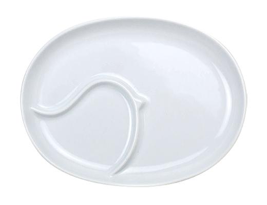 白山陶器 ピピ ランチプレート(ホワイト)